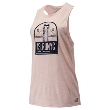 New Balance NYC Half Relentless Tank, Pink Mist Heather