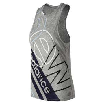New Balance Relentless Graphic Tank, Athletic Grey