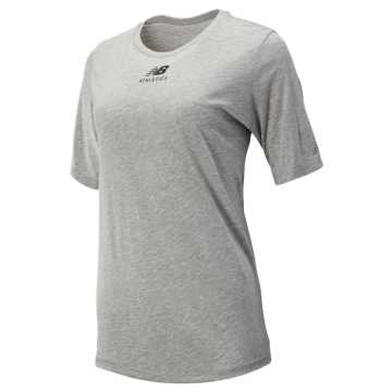 New Balance Relentless Graphic Tee, Heather Grey