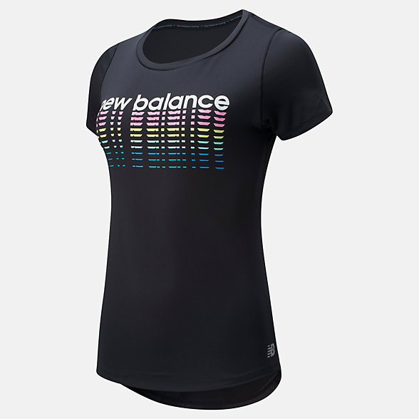 New Balance Printed Accelerate Short Sleeve v2, WT91137BK