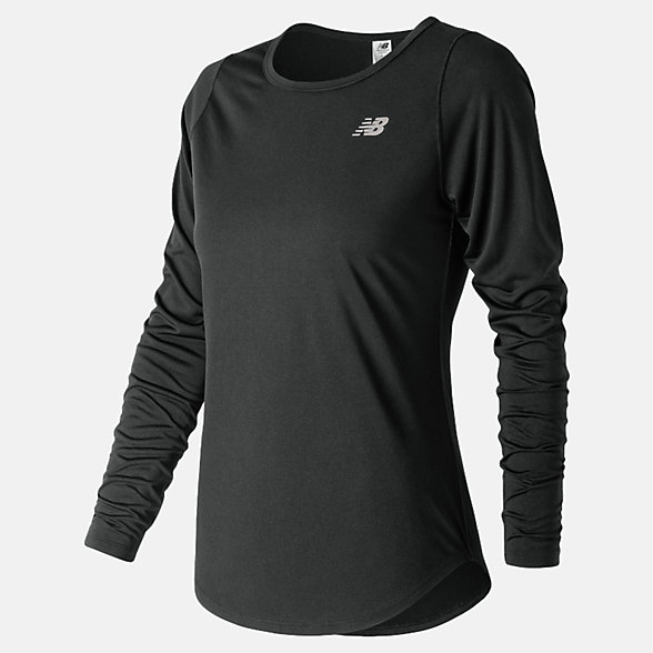 NB Accelerate Long Sleeve v2, WT91142BK