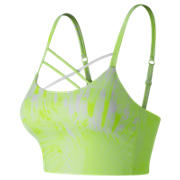 NB Printed Feel The Cool Crop Bra, Bleached Lime Glo