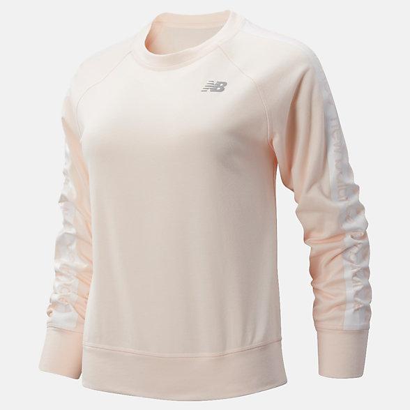 New Balance 女款速干圆领套头卫衣, WT91157PMT