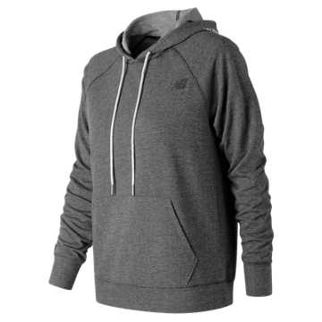 New Balance Relentless Hoodie, Black Heather