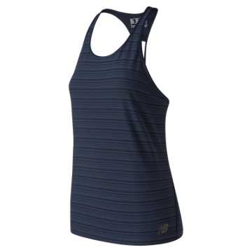 New Balance Q Speed Breathe Striped Tank, Eclipse