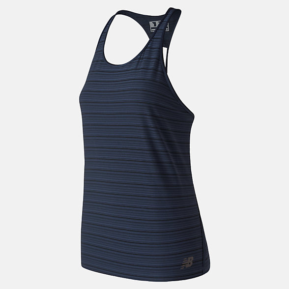 NB Q Speed Breathe Striped Tank, WT91215ECL