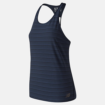 New Balance Q Speed Breathe Striped Tank, WT91215ECL image number null