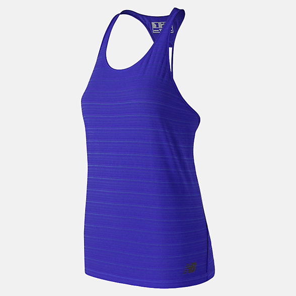 New Balance Q Speed Breathe Striped Tank, WT91215UVB