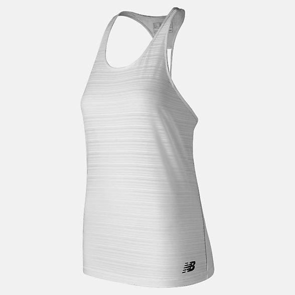 New Balance Q Speed Breathe Striped Tank, WT91215WT