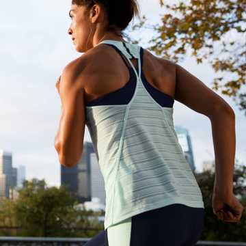 New Balance Q Speed Breathe Striped Tank, Water Vapor