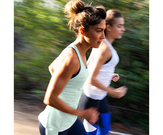 0edf92eec2fbcb Women s Q Speed Breathe Striped Tank - New Balance
