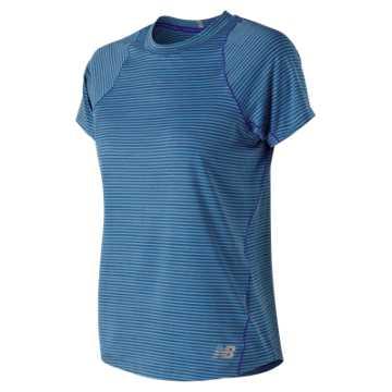 New Balance Seasonless Short Sleeve, UV Blue Heather