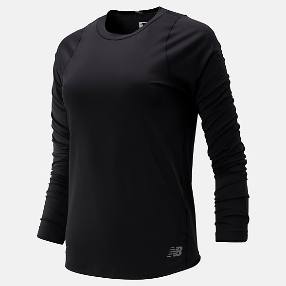 New Balance Seasonless Long Sleeve, WT91236BK