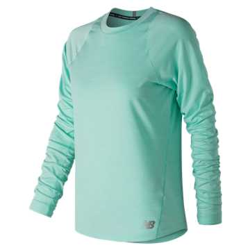 New Balance Seasonless Long Sleeve, Light Tidepool Heather