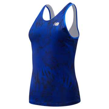New Balance Printed Rally Court Tank, UV Blue