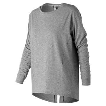 New Balance Studio Relaxed Long Sleeve, Athletic Grey