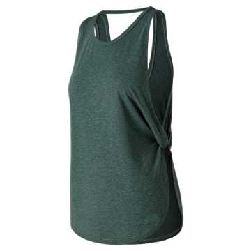 New Balance Studio Relaxed Tank, Dark Agave Heather