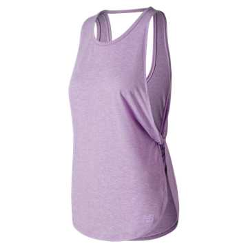 New Balance Studio Relaxed Tank, Violet Glo Heather