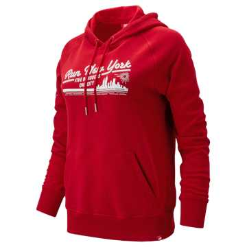 New Balance NYC Marathon Essentials PO Hoodie, Team Red
