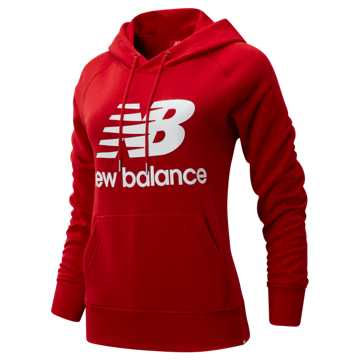 New Balance Essentials Pullover Hoodie, Team Red