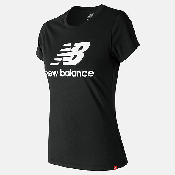 New Balance Essentials Stacked Logo Tee, WT91546BK
