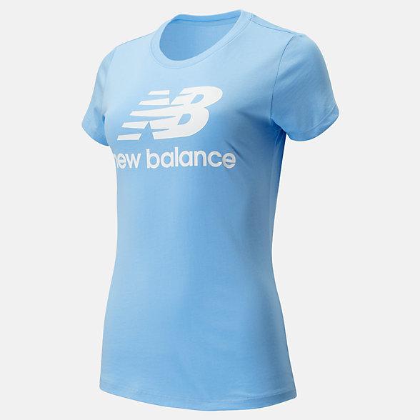 New Balance Essentials Stacked Logo Tee, WT91546CAR