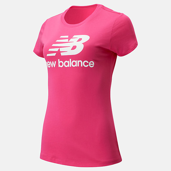 New Balance Essentials Stacked Logo Tee, WT91546EPK