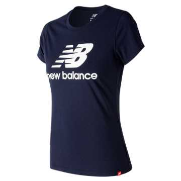 New Balance Essentials Stacked Logo Tee, Pigment