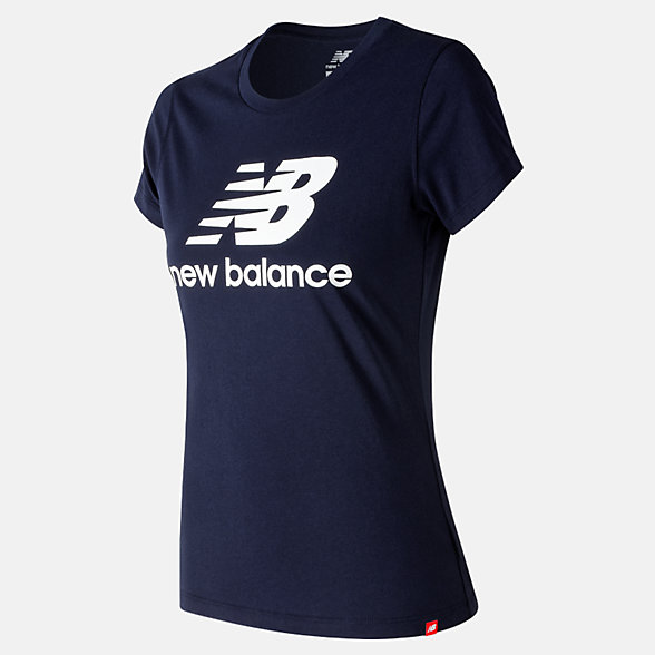 New Balance Essentials Stacked Logo Tee, WT91546PGM