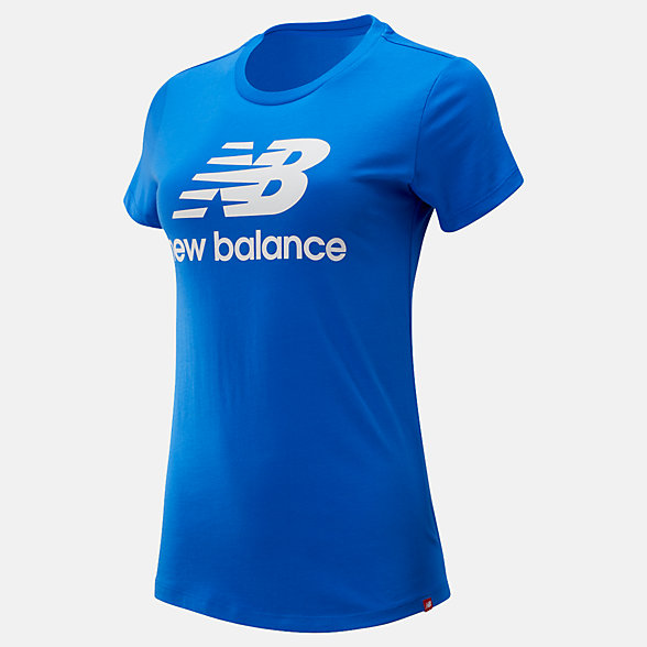 New Balance Essentials Stacked Logo Tee, WT91546VCT