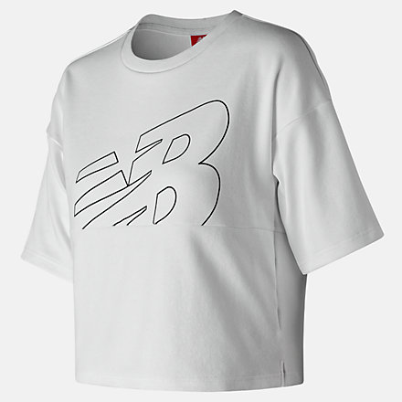 New Balance NB Athletics Crop Jersey, WT91552WT image number null