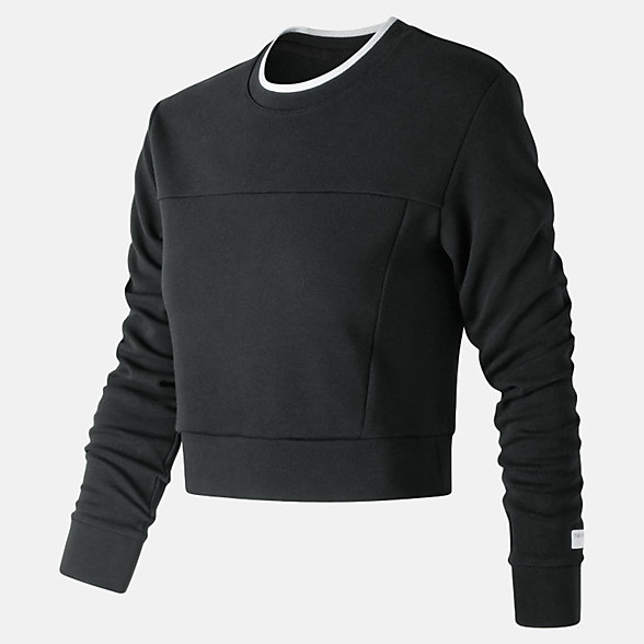 NB NB Athletics Long Sleeve Crop, WT91556BK