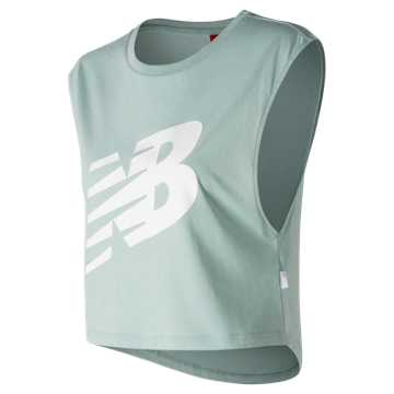 New Balance Fashion Crop T, White Agave with White