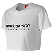 New Balance NB Athletics Crop Tee, White
