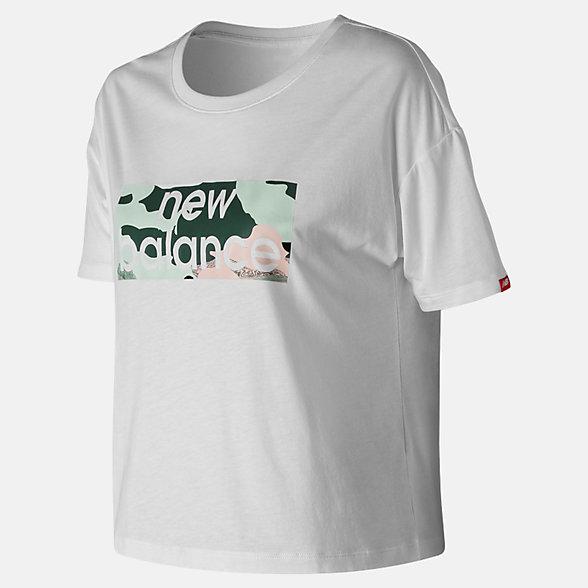 NB Essentials Aqua Camo Boxy T-Shirt, WT91583WT