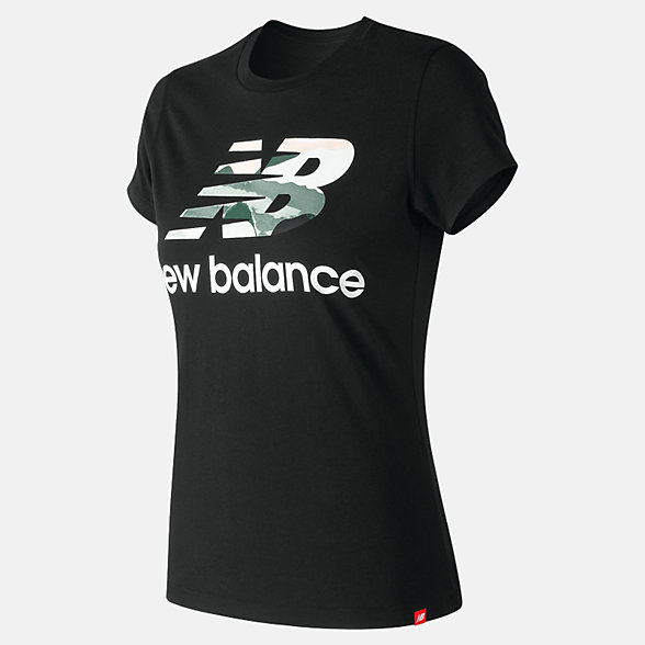 New Balance Essentials Aqua Camo Tee, WT91584BK