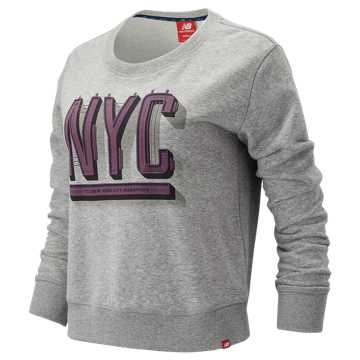New Balance NYC Marathon Essentials Crew, Athletic Grey