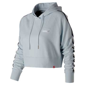 New Balance NB Athletics Cropped Hoodie, Platinum Sky