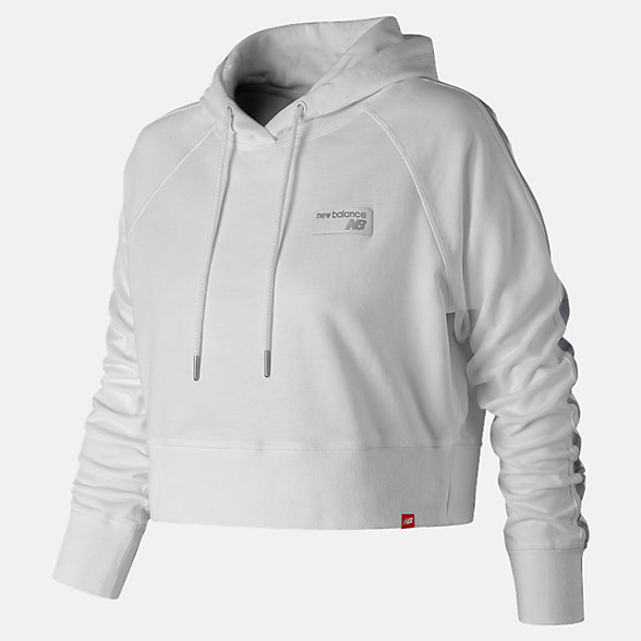 NB NB Athletics Cropped Hoodie, WT91587WT