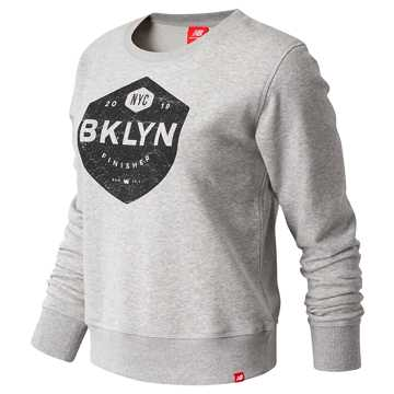 New Balance Brooklyn Half Finisher Crew, Athletic Grey
