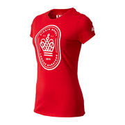 NB London Edition Crown Graphic Tee, Team Red Inline