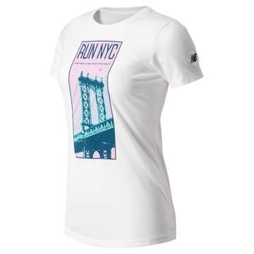 New Balance United Airlines Half Manhattan Bridge Tee, White