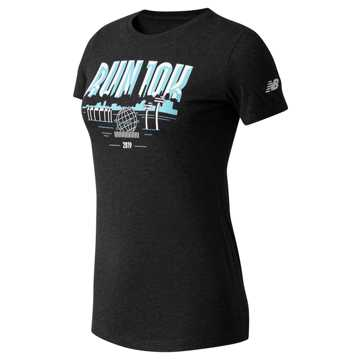 New Balance Run 10K Queens Tee, Black