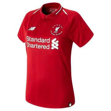New Balance LFC 6 Times 18/19 Home Womens SS Jersey, Red Pepper with White