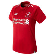 NB LFC 6 Times 18/19 Home Womens SS Jersey, Red Pepper with White