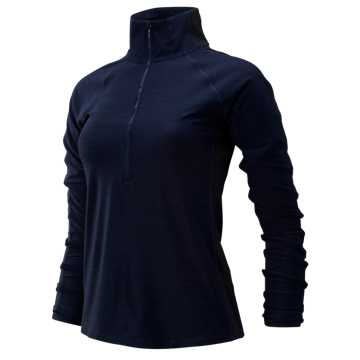New Balance Transform Half Zip, Pigment Heather with Black