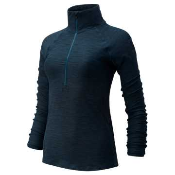 New Balance Transform Half Zip, Supercell Heather with Black