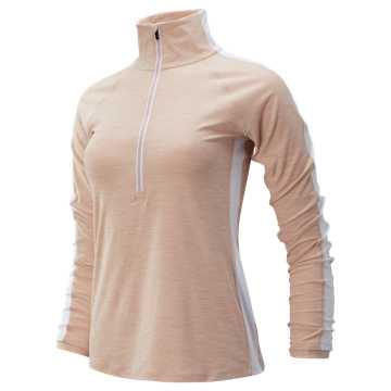 New Balance Transform Half Zip, White Oak with White