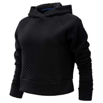 New Balance NYC Marathon NB HEAT LOFT Crop Hoodie, Black