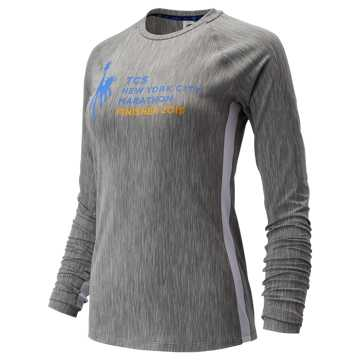 New Balance NYC Marathon Transform Long Sleeve, Athletic Grey